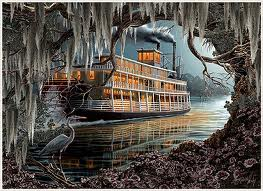 antibellum riverboat painting