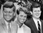 John Kennedy with the next two planned Kennedy Presidents; Robert and Edward.