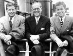 Joe Sr with the first two planned kennedy Presidents; Joe Jr. and John.